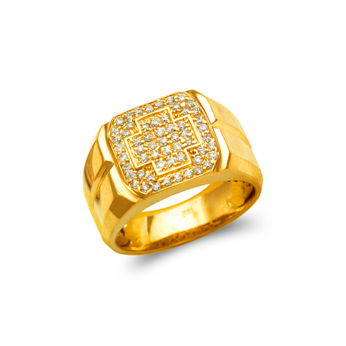 679-014 Men's Cluster CZ Ring
