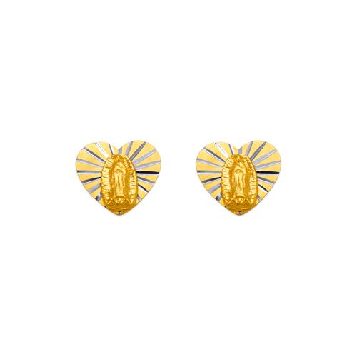 343-303 Virgin Mary Heart Stud Earrings