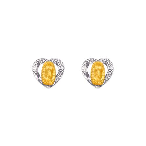 343-304 Virgin Mary Heart Stud Earrings