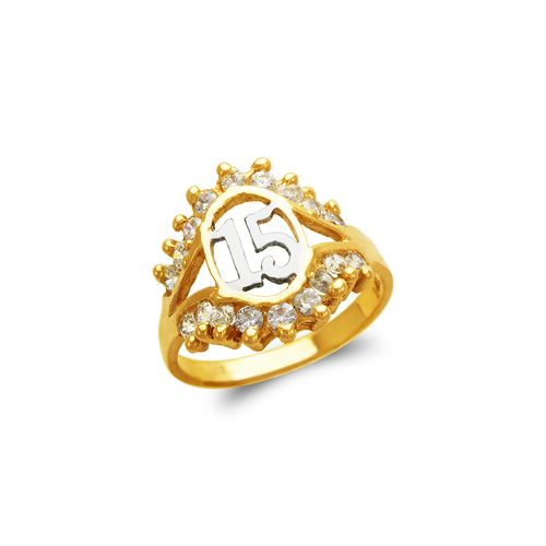 673-718 Ladies 15 Anos CZ Ring