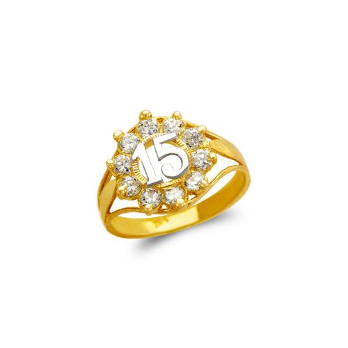 673-719 Ladies 15 Anos CZ Ring
