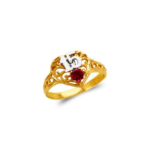 673-721 Ladies 15 Anos Heart CZ Ring