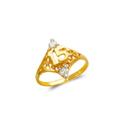 673-722 Ladies 15 Anos CZ Ring