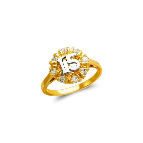 673-723 Ladies 15 Anos CZ Ring