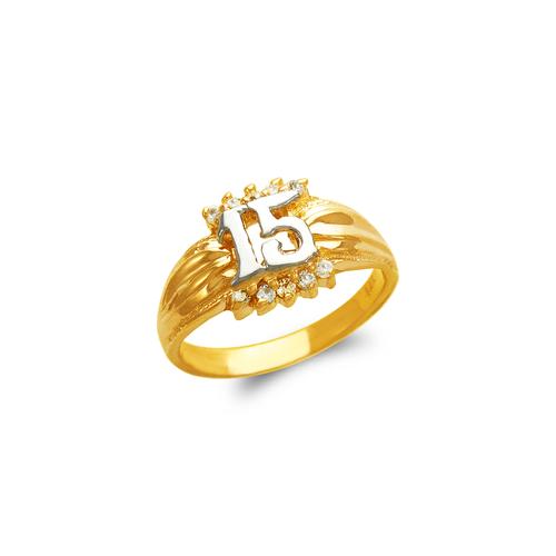 673-725 Ladies 15 Anos CZ Ring