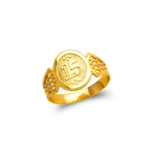 678-001 Ladies 15 Anos Filigree Ring