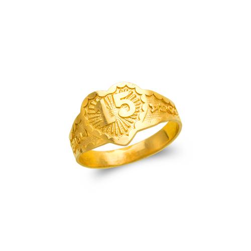 678-003 Ladies 15 Anos Heart Filigree Ring