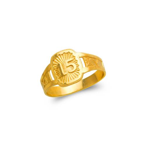 678-004 Ladies 15 Anos Filigree Ring