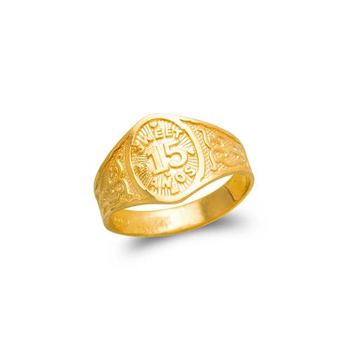 678-005 Ladies 15 Anos Filigree Ring
