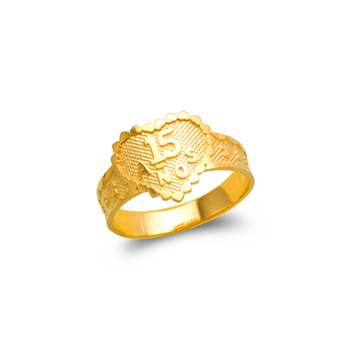 678-007 Ladies 15 Anos Heart Filigree Ring
