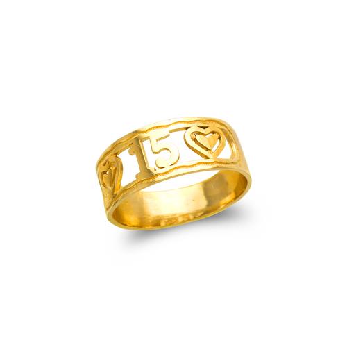 678-011 Ladies 15 Anos Filigree Ring