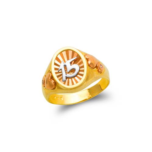 678-014 Ladies 15 Anos Filigree Ring