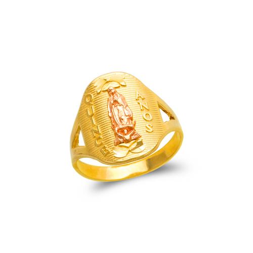 678-015 Ladies 15 Anos Guadalupe Filigree Ring