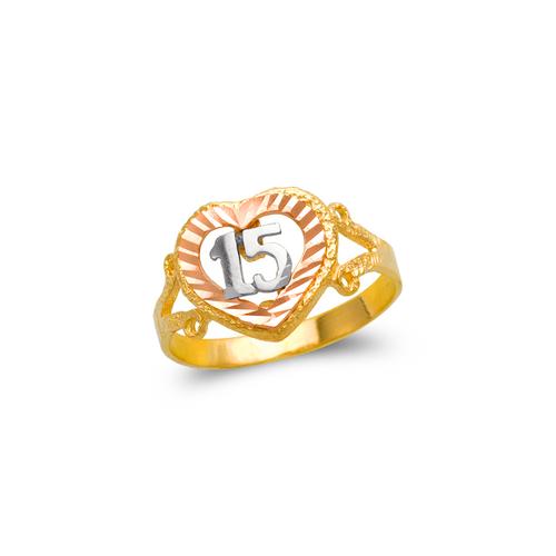 678-017 Ladies 15 Anos Filigree Ring