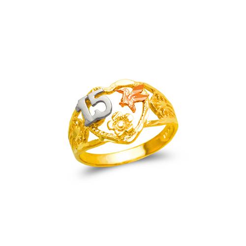 678-020 Ladies 15 Anos Heart Filigree Ring