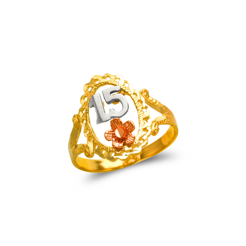 678-027 Ladies 15 Anos Filigree Ring