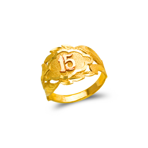 678-029 Ladies 15 Anos Filigree Ring