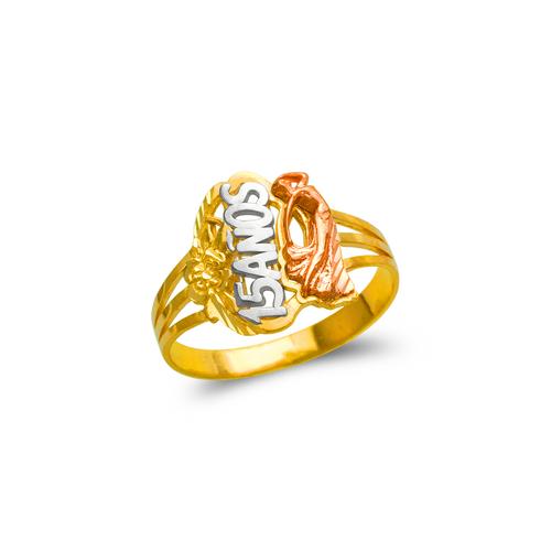678-030 Ladies 15 Anos Dancing Lady Filigree Ring
