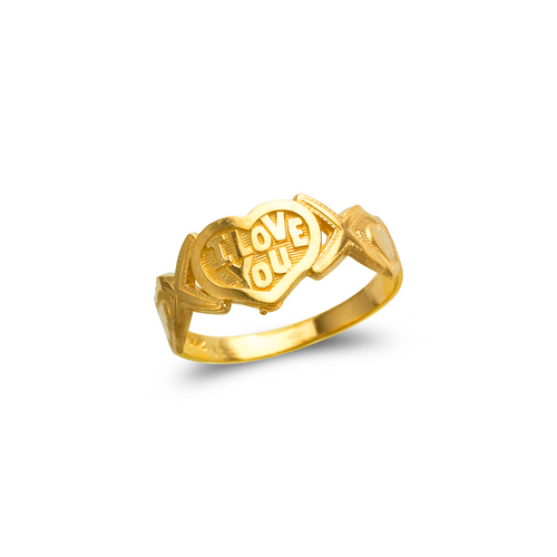 678-040 Ladies I Love You Filigree Ring