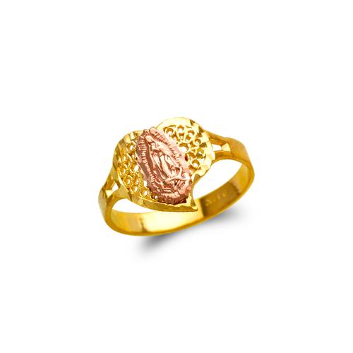 678-143 Ladies Guadalupe Heart Filigree Ring