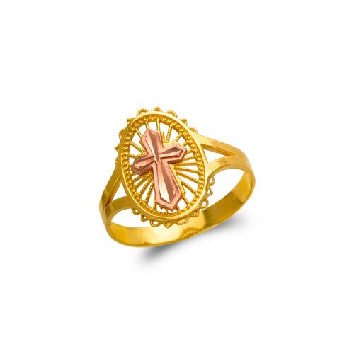 678-149 Ladies Cross Filigree Ring