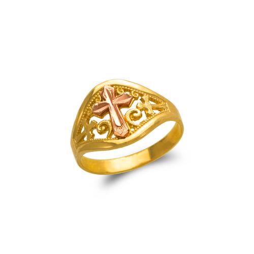 678-150 Ladies Cross Filigree Ring