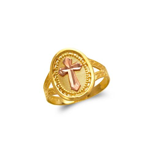 678-151 Ladies Cross Filigree Ring