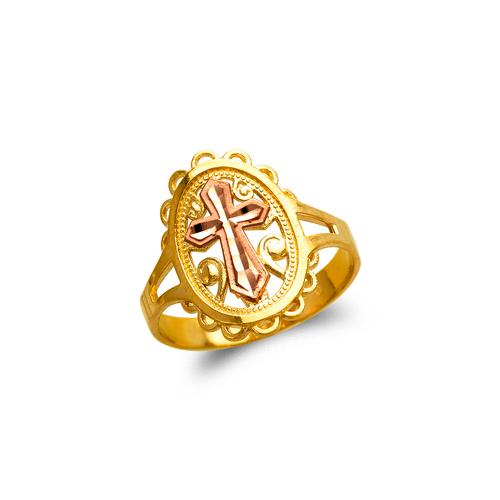 678-152 Ladies Cross Filigree Ring