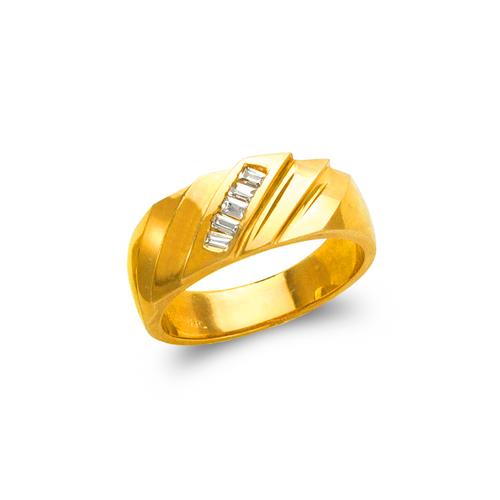 873-502 Men's Couple CZ Ring
