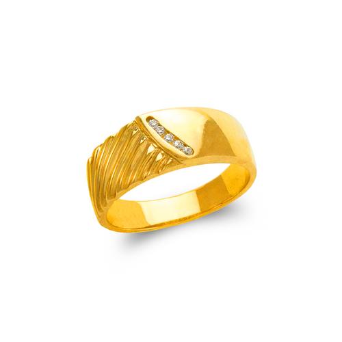 873-504 Men's Couple CZ Ring