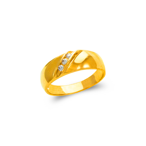 873-505 Ladies Couple CZ Ring