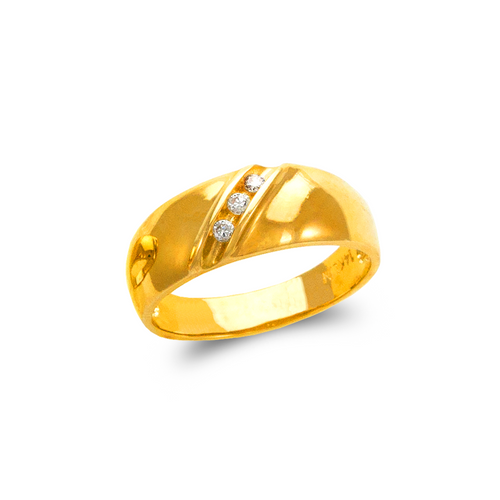 873-506 Men's Couple CZ Ring
