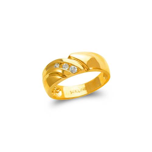 873-507 Ladies Couple CZ Ring