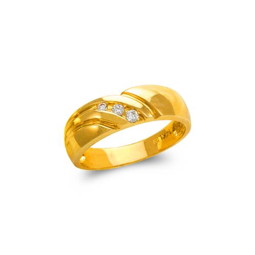 873-508 Men's Couple CZ Ring