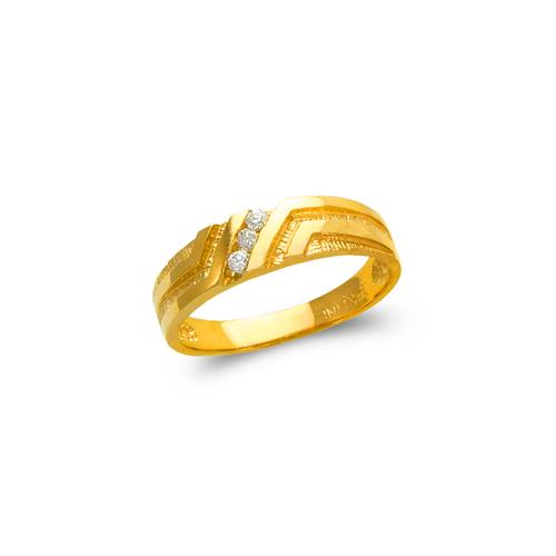 873-511 Ladies Couple CZ Ring