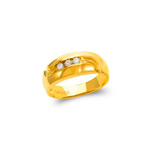 873-513 Ladies Couple CZ Ring