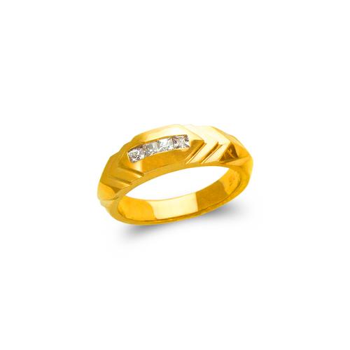 873-515 Ladies Couple CZ Ring