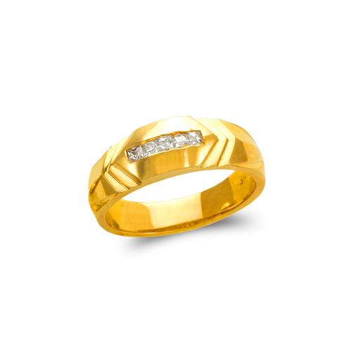 873-516 Men's Couple CZ Ring