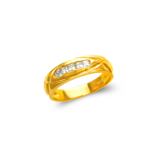 873-517 Ladies Couple CZ Ring