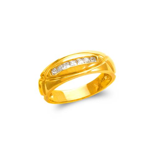 873-518 Men's Couple CZ Ring