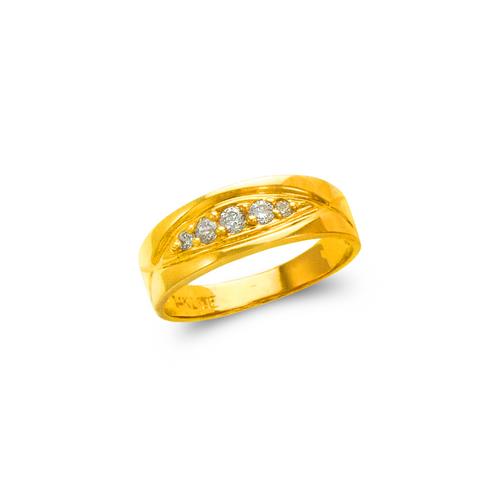 873-519 Ladies Couple CZ Ring