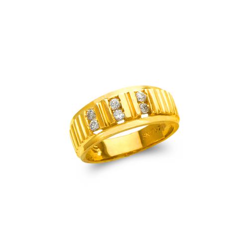 873-521 Ladies Couple CZ Ring