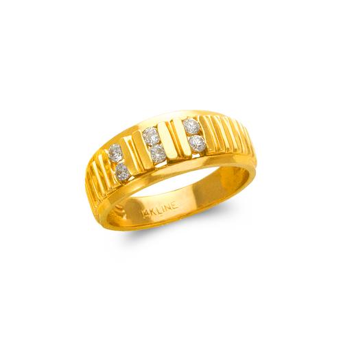 873-522 Men's Couple CZ Ring