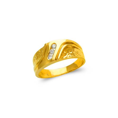 873-527 Ladies Couple CZ Ring