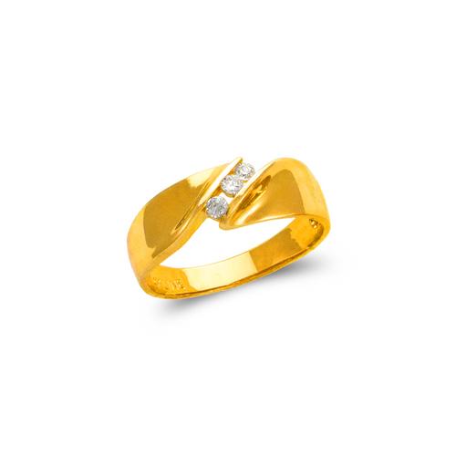 873-529 Ladies Couple CZ Ring