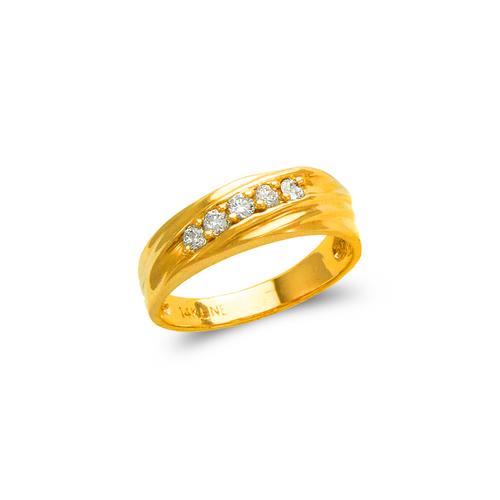 873-537 Ladies Couple CZ Ring