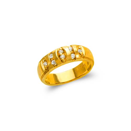 873-539 Ladies Couple CZ Ring