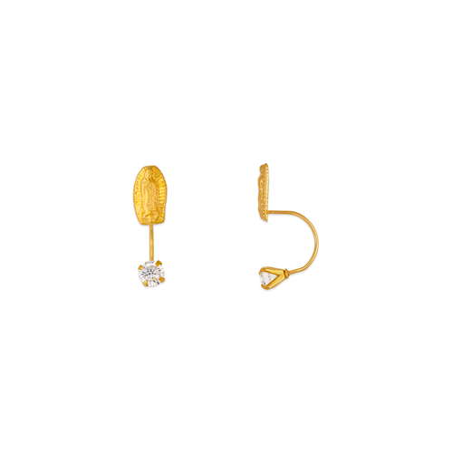 343-604 Virgin Mary Telephone CZ Stud Earrings