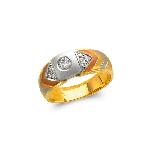 473-111 Men's Fancy Couple CZ Ring