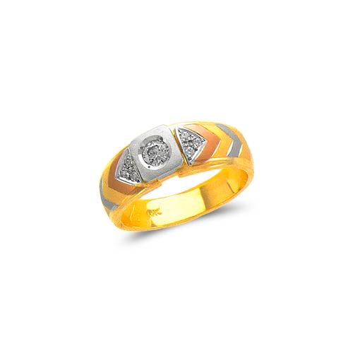 473-112 Ladies Couple CZ Ring